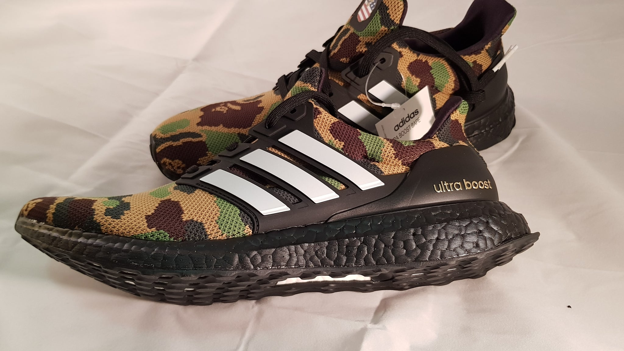 buy popular 7d7e3 5c2e6 Adidas Ultraboost BAPE Shoes (Green)