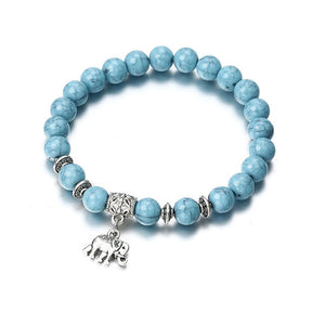 Acrylic Blue Beaded Bracelets