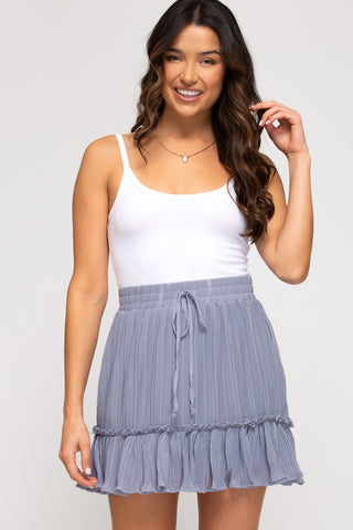 lilac ruffled womens skirt