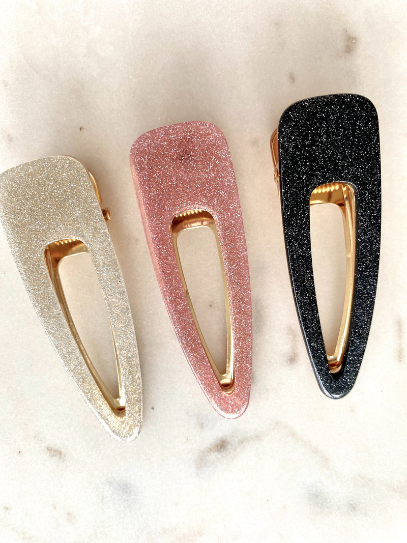 Set Of Three Sparkly Hair Clips - Artemisia Clothing Shop
