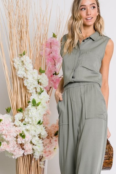 Jumpsuit Olive Green - Artemisia Clothing Shop