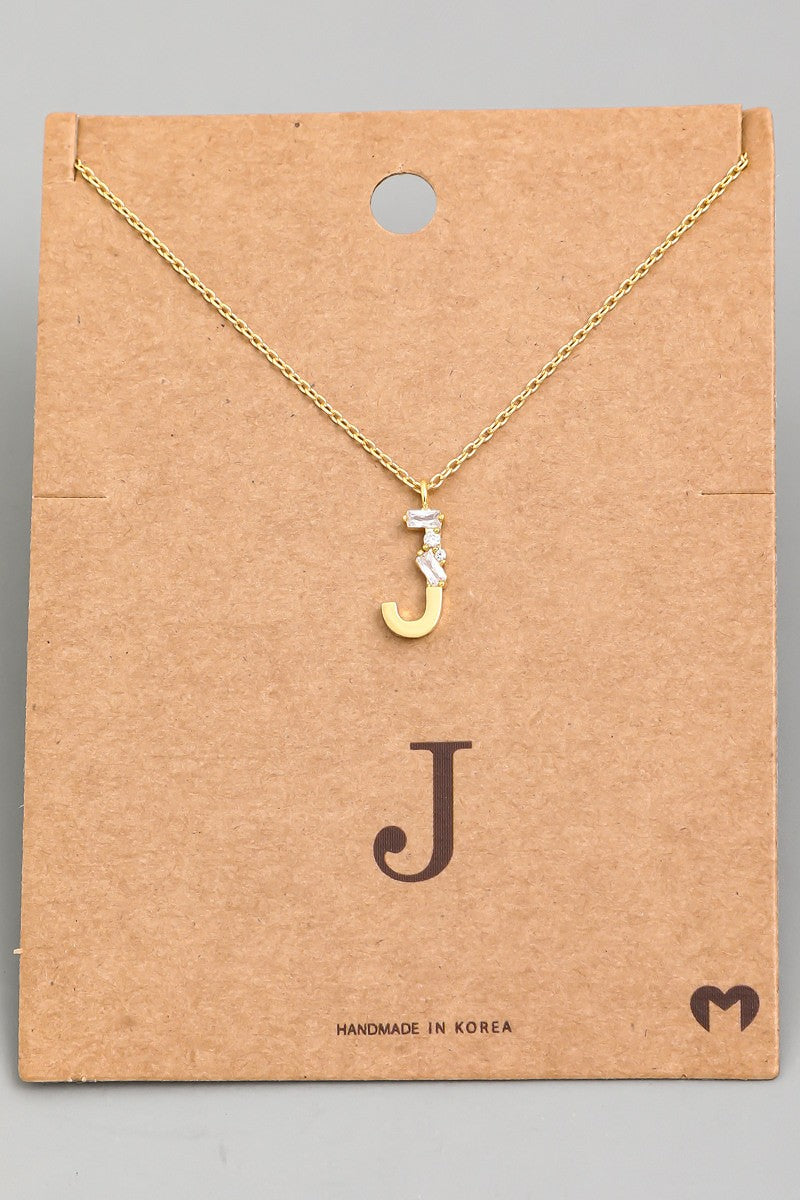 Diamond Letter Necklace - Artemisia Clothing Shop