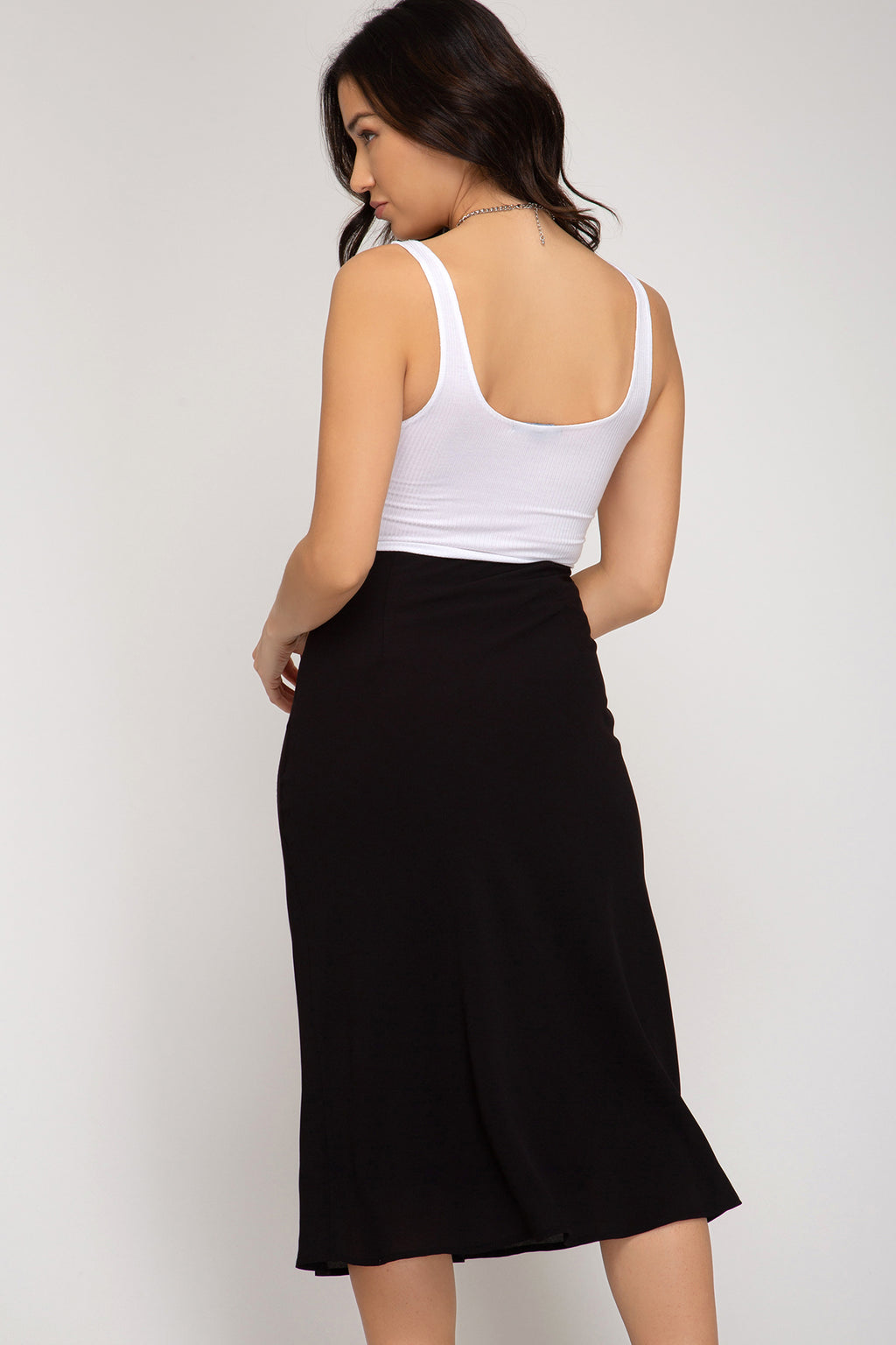 Black Midi Skirt - Artemisia Clothing Shop