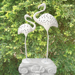 White Iron Cutwork Ostrich, Big - FOLKBRIDGE.COM | Buy Gifts. Indian Handicrafts. Home Decorations.