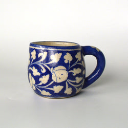 Ceramic Royal Blue Mug - FOLKBRIDGE.COM | Buy Gifts. Indian Handicrafts. Home Decorations.