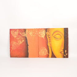 Buddha Two Panel Oil Painting - FOLKBRIDGE.COM | Buy Gifts. Indian Handicrafts. Home Decorations.