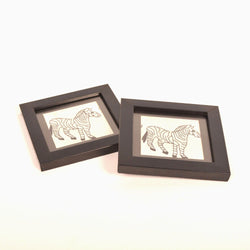 Embroidered Zebra Coasters, Set of 4 - FOLKBRIDGE.COM | Buy Gifts. Indian Handicrafts. Home Decorations.