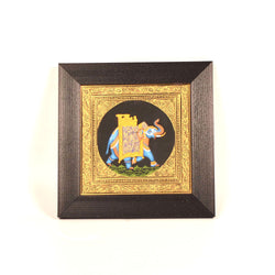 Blue Elephant Miniature Painting, Large - FOLKBRIDGE.COM | Buy Gifts. Indian Handicrafts. Home Decorations.