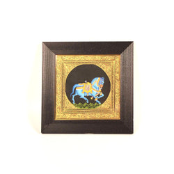 Blue Horse Miniature Painting, Large - FOLKBRIDGE.COM | Buy Gifts. Indian Handicrafts. Home Decorations.