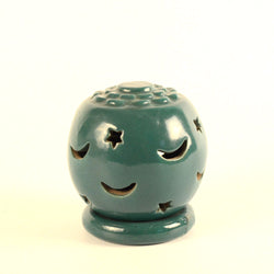 Green Ceramic Tea light holder - FOLKBRIDGE.COM | Buy Gifts. Indian Handicrafts. Home Decorations.