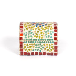 Mosaic Multicoloured Glass Box, Small  - FOLKBRIDGE.COM | Buy Gifts. Indian Handicrafts. Home Decorations.
