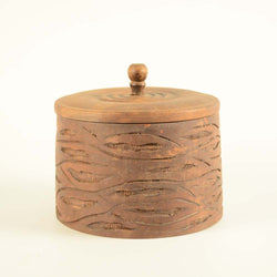 Wooden Round Box, Rustic - FOLKBRIDGE.COM | Buy Gifts. Indian Handicrafts. Home Decorations.
