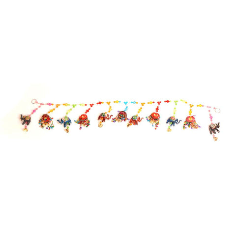 Colourful Toran or Door Hanging, Elephant and Beads - FOLKBRIDGE.COM | Buy Gifts. Indian Handicrafts. Home Decorations.