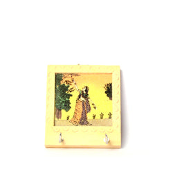 Wooden Hand Painted Key Holder, Forest Scene, Two Pegs - FOLKBRIDGE.COM | Buy Gifts. Indian Handicrafts. Home Decorations.