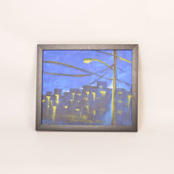 City Night Life Multicolored Acrylic Painting - FOLKBRIDGE.COM | Buy Gifts. Indian Handicrafts. Home Decorations.