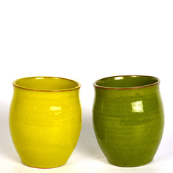 Ceramic Green Kulhad Mugs, Set of Two - FOLKBRIDGE.COM | Buy Gifts. Indian Handicrafts. Home Decorations.