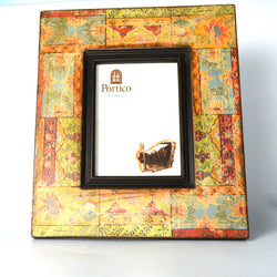 Multicolored Wooden Printed Photo Frame - FOLKBRIDGE.COM | Buy Gifts. Indian Handicrafts. Home Decorations.