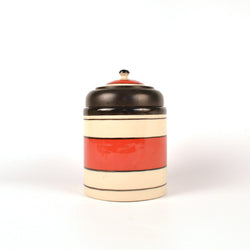 Ceramic Red and Black Air Tight Kitchen Jar, Small - FOLKBRIDGE.COM | Buy Gifts. Indian Handicrafts. Home Decorations.