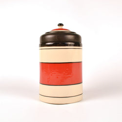Ceramic Red and Black Air Tight Kitchen Jar, Medium - FOLKBRIDGE.COM | Buy Gifts. Indian Handicrafts. Home Decorations.