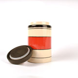 Ceramic Red and Black Air Tight Kitchen Jar, Large - FOLKBRIDGE.COM | Buy Gifts. Indian Handicrafts. Home Decorations.