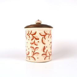 Ceramic Floral Round Air Tight Kitchen Jar, Large - FOLKBRIDGE.COM | Buy Gifts. Indian Handicrafts. Home Decorations.