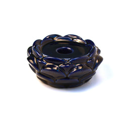 Ceramic Blue Lotus Candle Stand - FOLKBRIDGE.COM | Buy Gifts. Indian Handicrafts. Home Decorations.