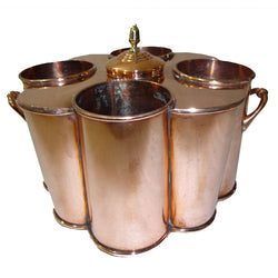Copper Wine Cooler, 4 Bottles, Round Corners - FOLKBRIDGE.COM | Buy Gifts. Indian Handicrafts. Home Decorations.