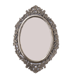 Carved Silver Mirror And Mirror Frame - FOLKBRIDGE.COM | Buy Gifts. Indian Handicrafts. Home Decorations.
