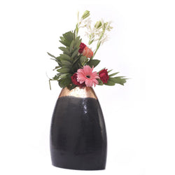 Black Brass Vase, Small - FOLKBRIDGE.COM | Buy Gifts. Indian Handicrafts. Home Decorations.