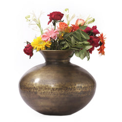 Brass Pot Planter, Medium - FOLKBRIDGE.COM | Buy Gifts. Indian Handicrafts. Home Decorations.
