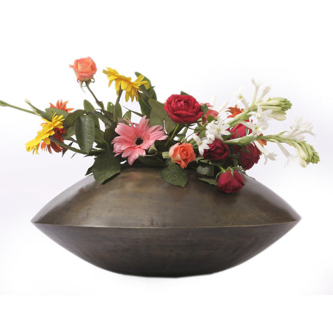 Brass Oval Pot Planter, Large - FOLKBRIDGE.COM | Buy Gifts. Indian Handicrafts. Home Decorations.