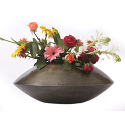 Brass Oval Pot Planter, Small - FOLKBRIDGE.COM | Buy Gifts. Indian Handicrafts. Home Decorations.