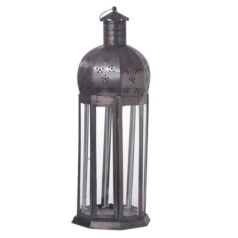 Black Brass Lantern - FOLKBRIDGE.COM | Buy Gifts. Indian Handicrafts. Home Decorations.