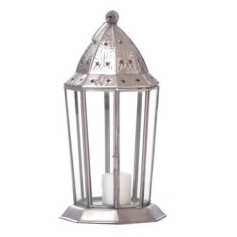 Antique Cut Work Silver Lantern - FOLKBRIDGE.COM | Buy Gifts. Indian Handicrafts. Home Decorations.