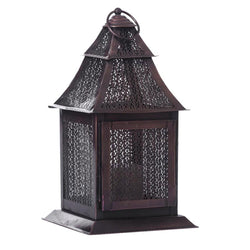 Ethnic Dark Brown Copper Lantern - FOLKBRIDGE.COM | Buy Gifts. Indian Handicrafts. Home Decorations.