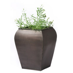 Square Curved Tapered Planter, Large - FOLKBRIDGE.COM | Buy Gifts. Indian Handicrafts. Home Decorations.