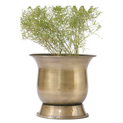 Brass Antique Finish Planter, Large - FOLKBRIDGE.COM | Buy Gifts. Indian Handicrafts. Home Decorations.