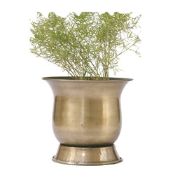 Brass Antique Finish Planter, Small - FOLKBRIDGE.COM | Buy Gifts. Indian Handicrafts. Home Decorations.