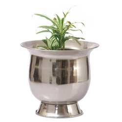 Antique Silver Finish Planter, Large - FOLKBRIDGE.COM | Buy Gifts. Indian Handicrafts. Home Decorations.