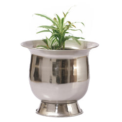 Antique Silver Finish Planter, Medium - FOLKBRIDGE.COM | Buy Gifts. Indian Handicrafts. Home Decorations.