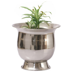 Antique Silver Finish Planter, Small - FOLKBRIDGE.COM | Buy Gifts. Indian Handicrafts. Home Decorations.