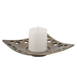 Curved Square Candle Tray - FOLKBRIDGE.COM | Buy Gifts. Indian Handicrafts. Home Decorations.