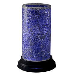 Blue Glass Mosaic Hurricane Lamp - FOLKBRIDGE.COM | Buy Gifts. Indian Handicrafts. Home Decorations.
