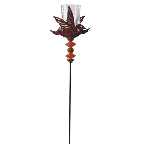 Brown Bird Garden Stick with Votive Glass - FOLKBRIDGE.COM | Buy Gifts. Indian Handicrafts. Home Decorations.