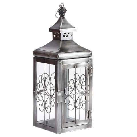 Antique Silver Designer Lantern - FOLKBRIDGE.COM | Buy Gifts. Indian Handicrafts. Home Decorations.