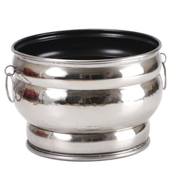 Aluminium Oval Planter, Large - FOLKBRIDGE.COM | Buy Gifts. Indian Handicrafts. Home Decorations.