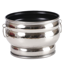 Aluminium Oval Planter, Small - FOLKBRIDGE.COM | Buy Gifts. Indian Handicrafts. Home Decorations.