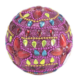 Decorative Purple Ball With Sequin Embroidery Work - FOLKBRIDGE.COM | Buy Gifts. Indian Handicrafts. Home Decorations.