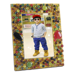 Decorative Photoframe With Glass Pebbles - FOLKBRIDGE.COM | Buy Gifts. Indian Handicrafts. Home Decorations.