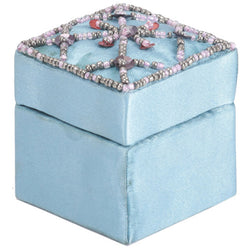 Small Blue Jewellery Box With Sequin Embroidery - FOLKBRIDGE.COM | Buy Gifts. Indian Handicrafts. Home Decorations.
